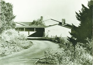 Spotlight on John Yeon, the Father of Northwest Regional Architecture - Photo 1 of 14 - The black-and-white image captured the geometry of the Watzek House, with its roof angles perfectly mirroring Mount Hood.