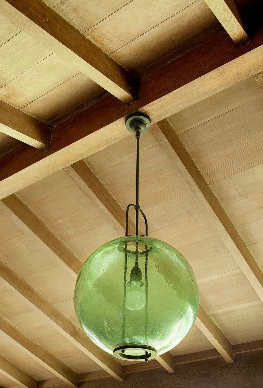 Yeon re-purposed a Japanese fishing buoy into a lighting fixture which became the inspiration for the
