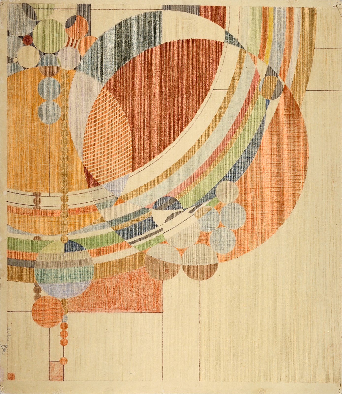 Frank Lloyd Wright. March Balloons. 1955. Drawing based on a c. 1926 design for Liberty magazine. Colored pencil on paper, 28 1/4 x 24 1/2  Photo 3 of 12 in 10 Ways to Celebrate Frank Lloyd Wright's 150th Birthday