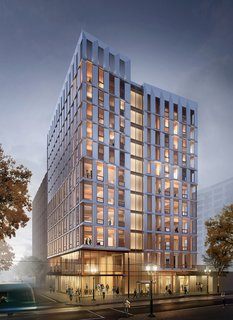 The First Mass Timber High-Rise Building in the U.S. Gets the Green Light For Construction - Photo 1 of 6 - Exterior rendering, Framework.