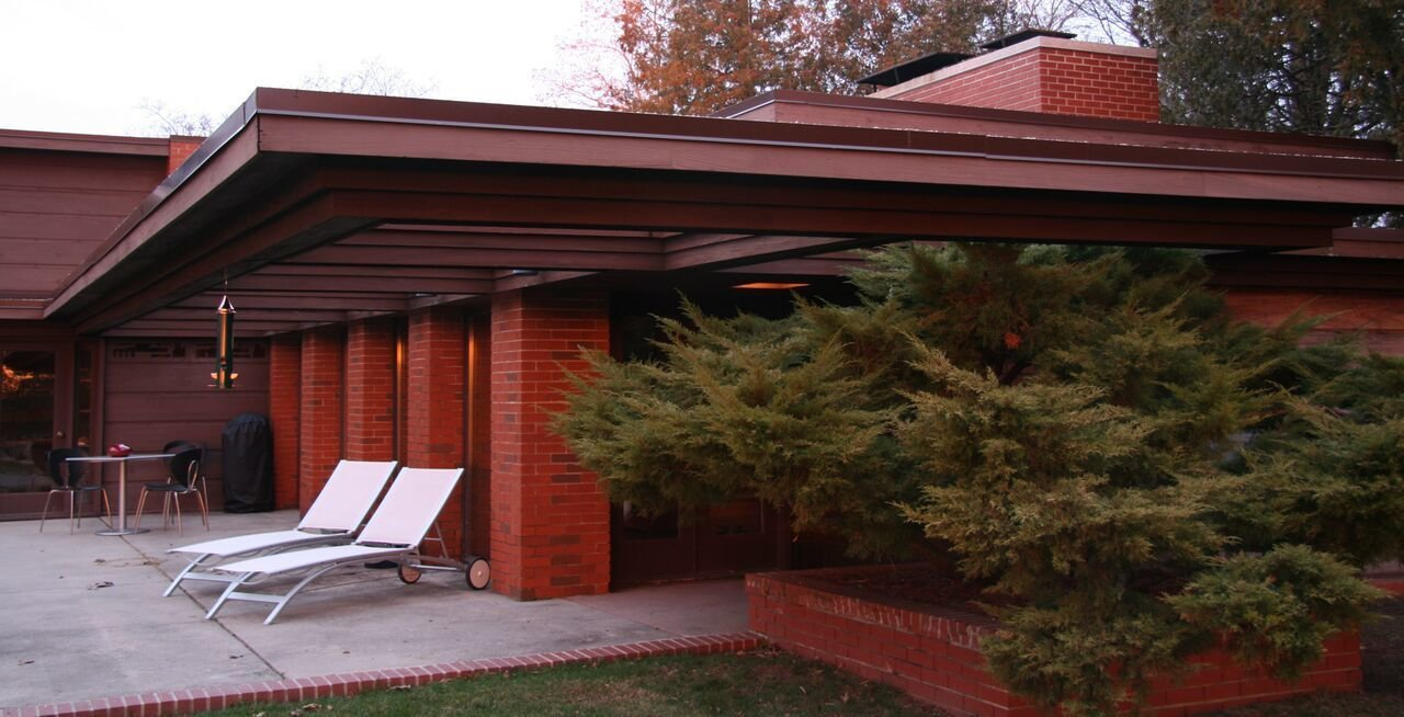 Also known as Still Bend, Wright originally designed the Schwartz house as part of a LIFE Magazine  Photo 9 of 11 in 10 Frank Lloyd Wright Homes Available to Rent Right Now