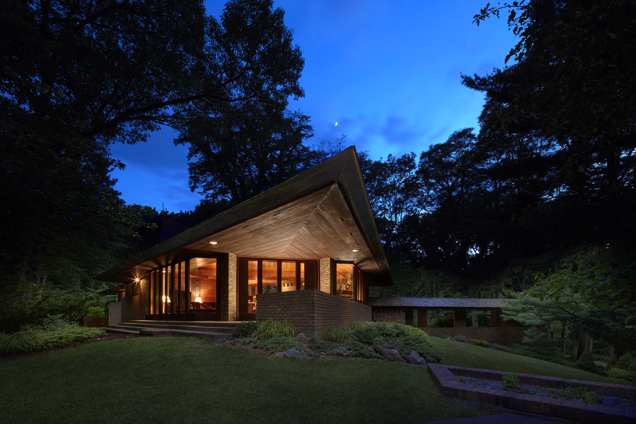 Photo 1 of 11 in 10 Frank Lloyd Wright Homes Available to Rent Right Now
