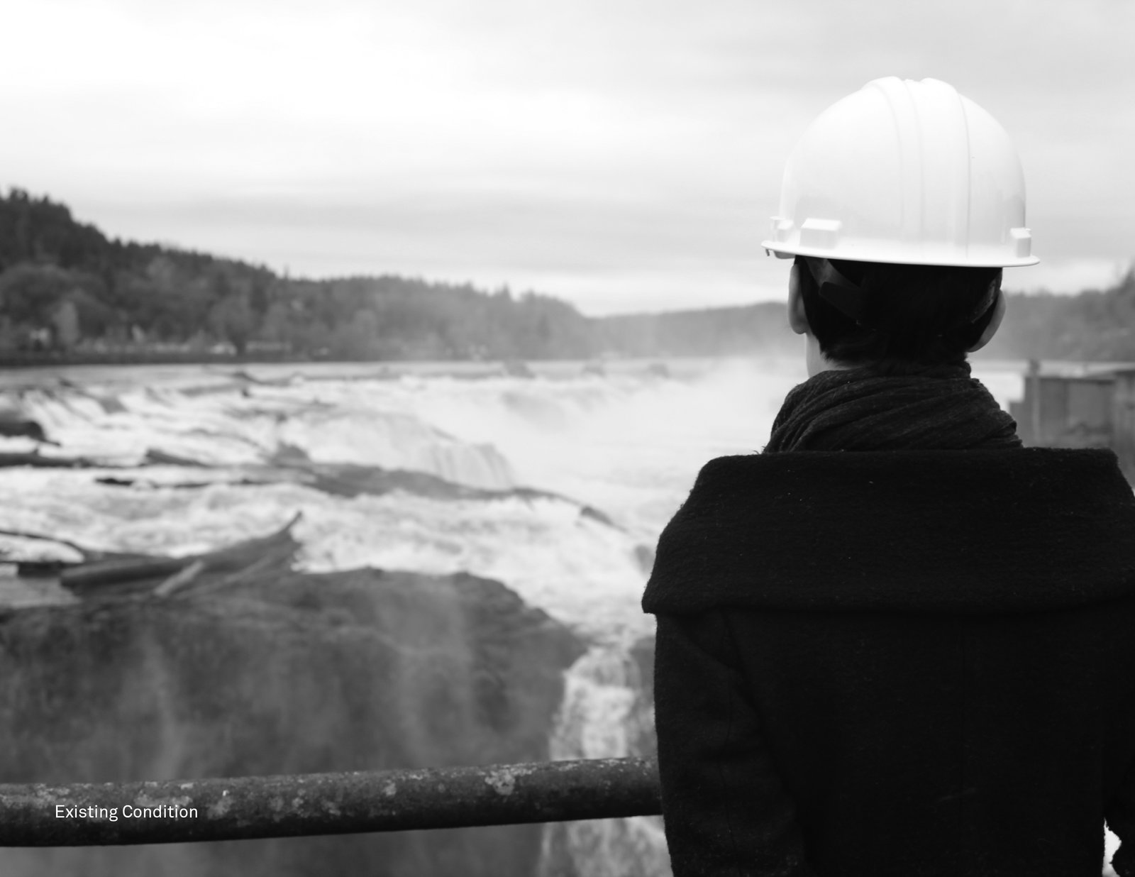 What the landscape currently looks like. Snøhetta Designs a New Riverwalk That Will Bring Public Access to Oregon City's Willamette Falls - Photo 8 of 8