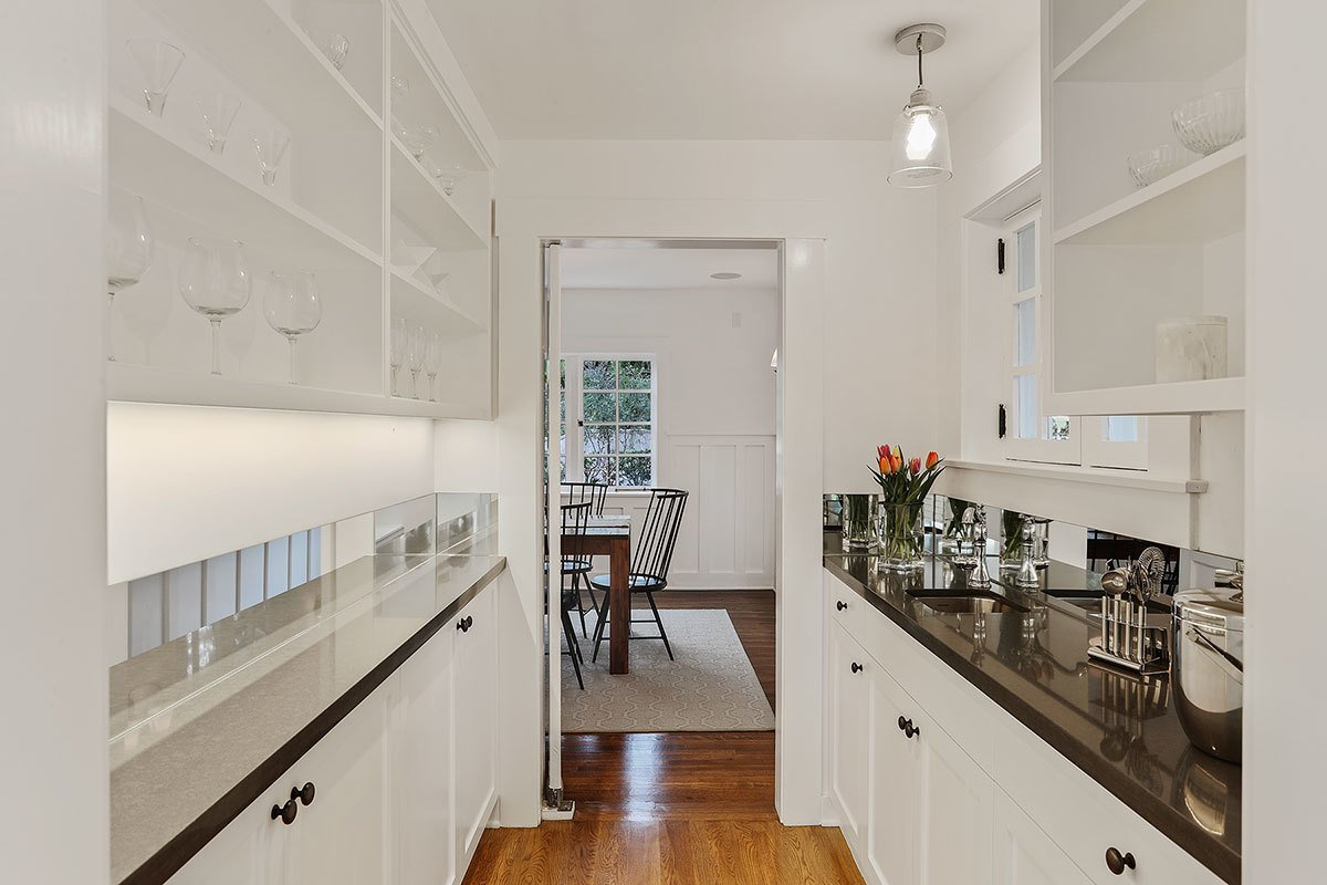 A butler's pantry leads from the kitchen area to the dining room.  Photo 3 of 11 in With an Architectural Pedigree and Green Certification, This Pasadena Home Just Listed For $3.6M