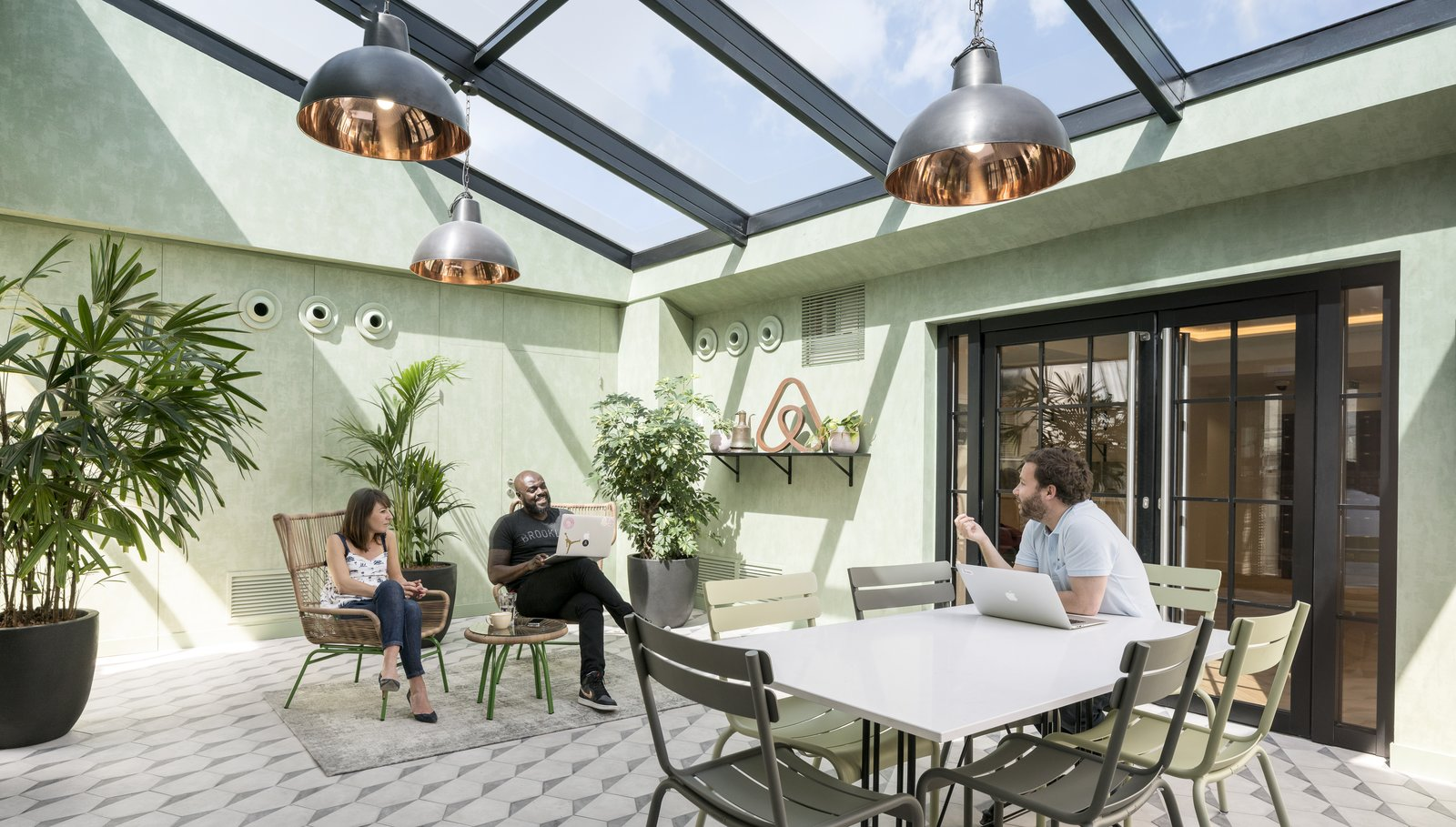 Take A Peek Inside Airbnb S New Loft Inspired Office Space In Paris
