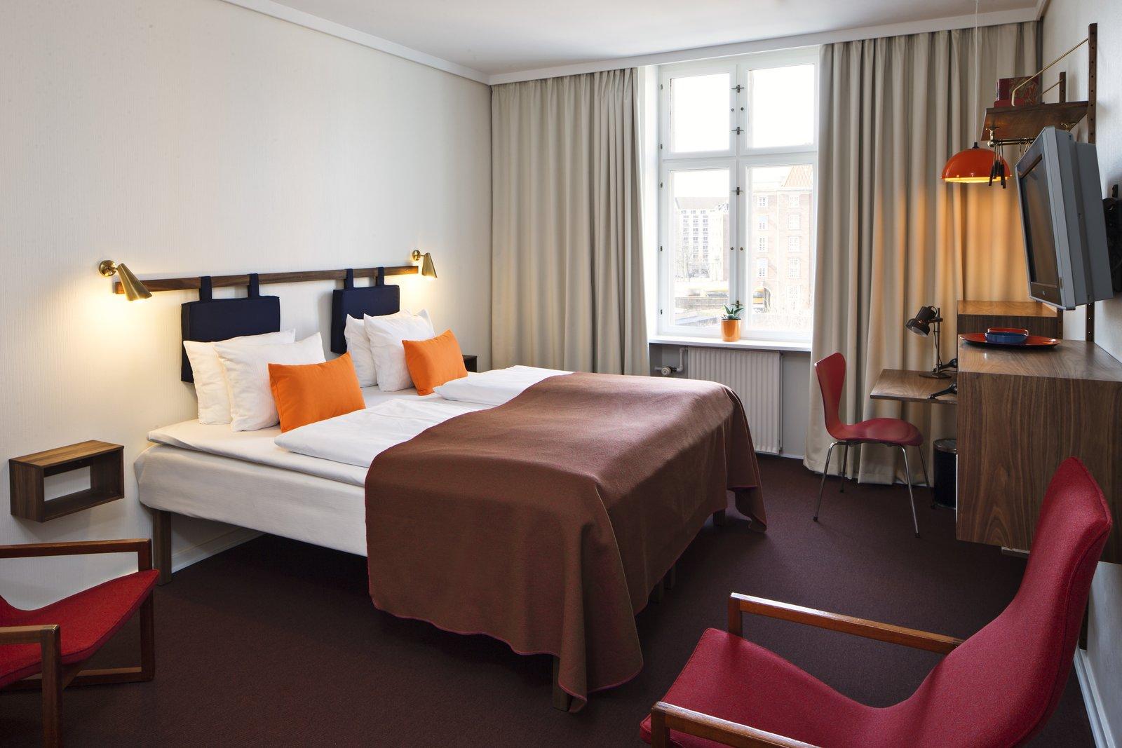 Standard Double Room  Photo 5 of 9 in Get Your Fix of Midcentury Scandinavian Design at This Copenhagen Hotel