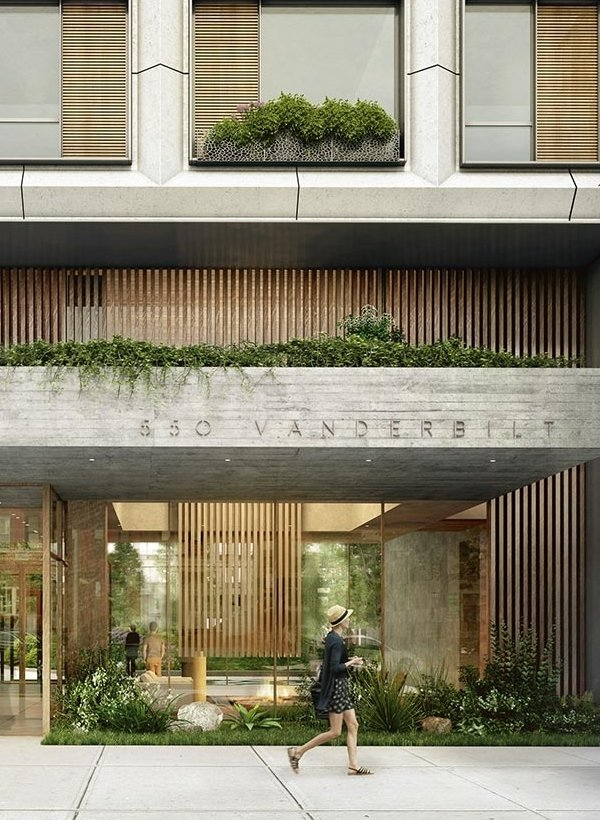 A garden vibe has been integrated into the design of 550 Vanderbilt.  Photo 2 of 8 in 3 New York City Residential Projects That Feature DIY Urban Gardens