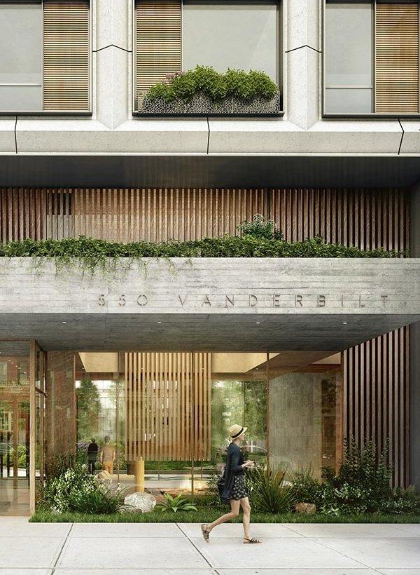 A garden vibe has been integrated into the design of 550 Vanderbilt.