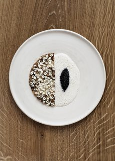 New Scandinavian cuisine like this sourdough pancake served with elderflower and caviar will be served alongside classic dishes such as frikadeller (Danish meatballs), schnitzel, and hot-smoked salmon.