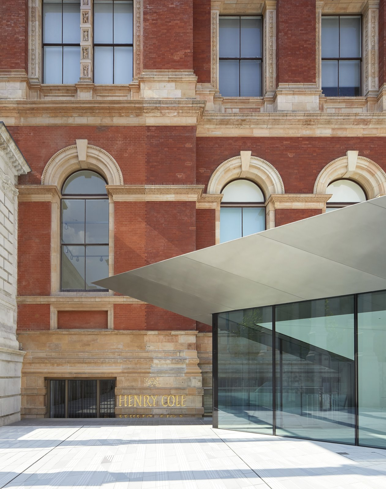The £54.5 million project was first announced back in 2012 is the largest expansion at the museum in over 100 years.  Photo 8 of 10 in Part of an Epic Expansion, London's V&A Museum Paves its Courtyard With 11,000 Porcelain Tiles