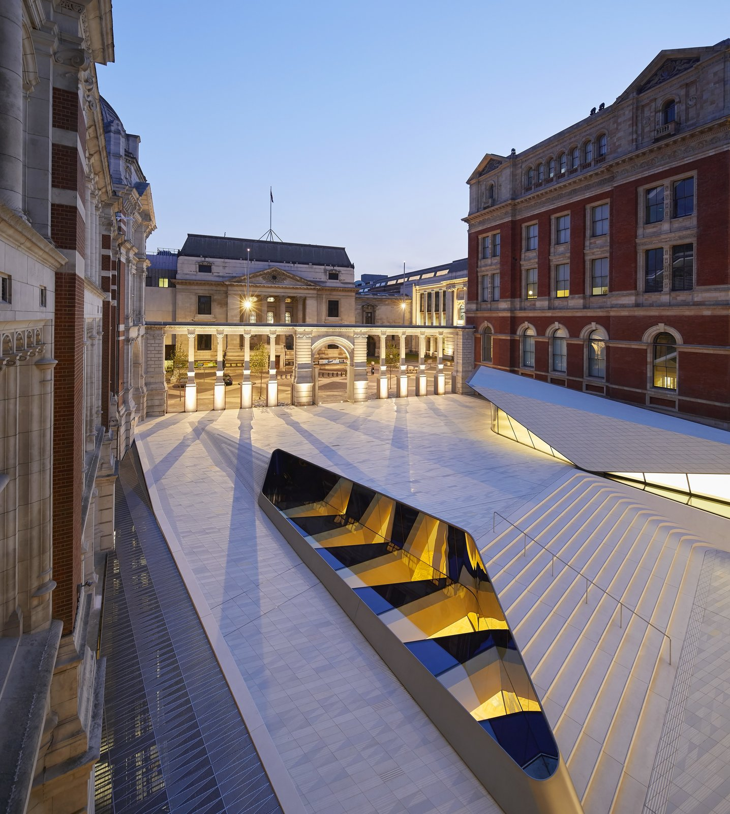 Photo 9 of 10 in Part of an Epic Expansion, London's V&A Museum Paves its Courtyard With 11,000 Porcelain Tiles