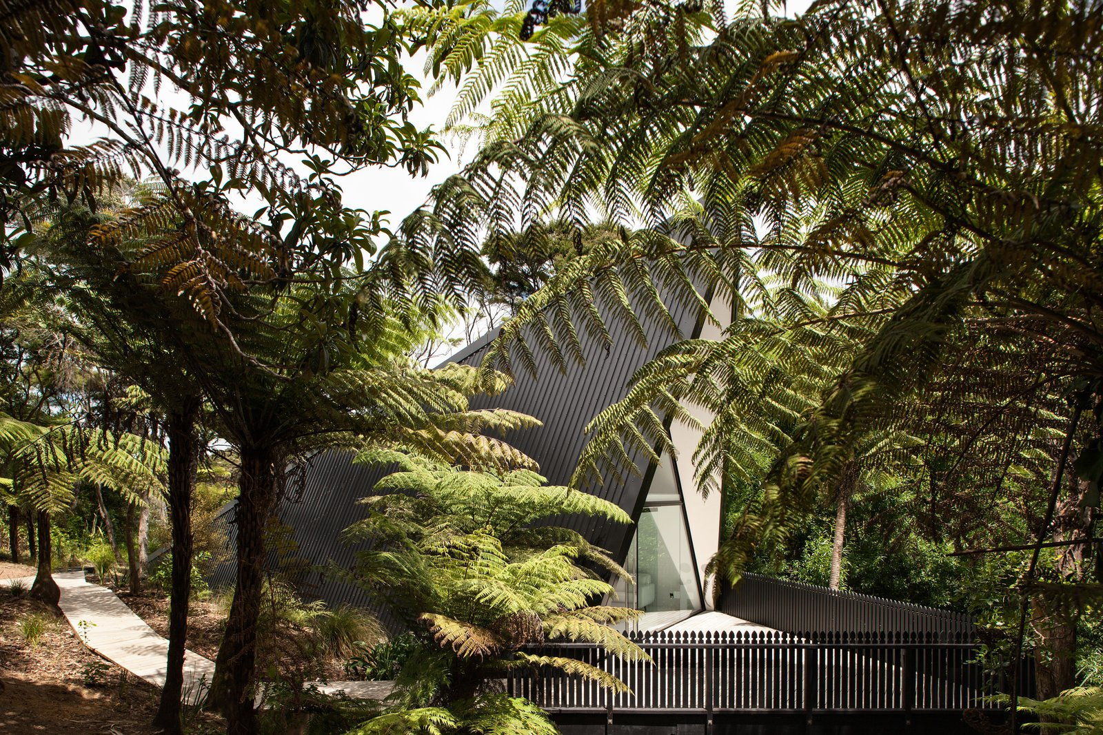 Stay in a Tent-Inspired A-Frame Cabin in the New Zealand Rain Forest