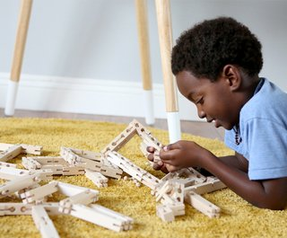 Foster Your Child's Creativity With These Modern, Architectural Building Toys For Kids - Photo 1 of 4 - Bokah blocks come in four sizes: Longs, Halfys, Smalls, and Tinys. Bendys are single-size, flexible units that can stretch, pull, bend, and twist.