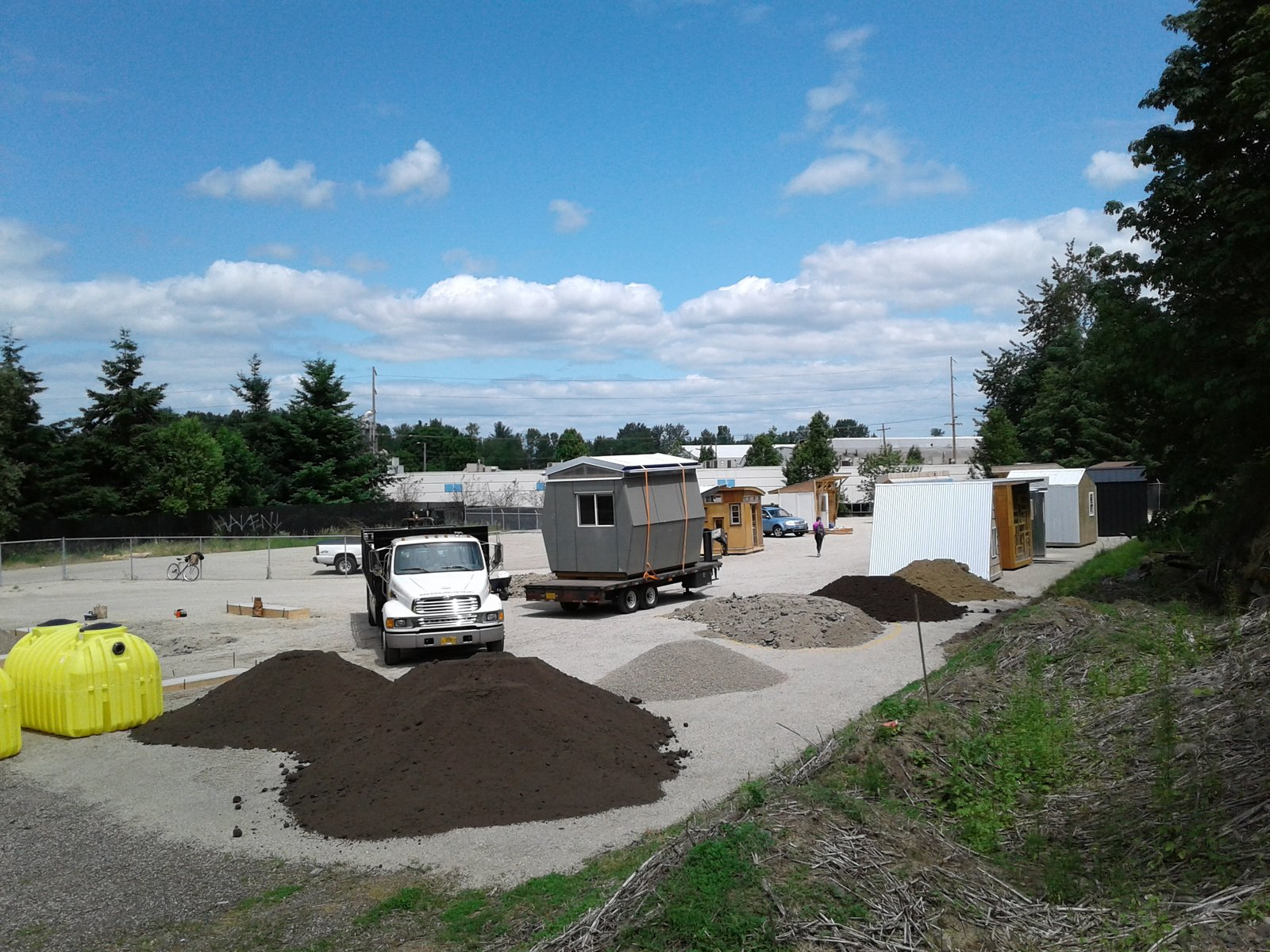 SRG POD being delivered to the Kenton Women's Village. How Tiny Pods Are the Future For Portland's Houseless Community - Photo 5 of 8