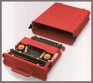 """An Exhibit on Italian Designer Ettore Sottsass Highlights His Colorful Work and Rebellious Ways - Photo 2 of 15 - The Valentine typewriter, 1968, ABS plastic and other materials. Often regarded as the first """"pop"""" designer object, this typewriter was lightweight and portable and would become highly influential. <span style=""""color: rgb(204, 204, 204); font-size: 13px;"""">Associazione Archivio Storico Olivetti Studio/ Ettore Sottsass Srl</span>"""