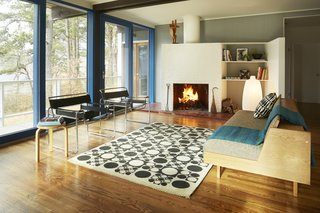 Experience Cape Cod Modern by Staying at the Midcentury Weidlinger House - Photo 4 of 8 - The fireplace is similar to the one in Breuer's nearby cottage, and is slightly askew.