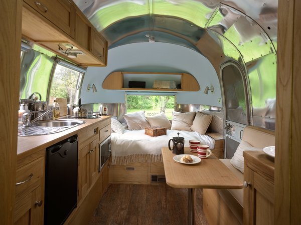 A little beauty called poppy, this caravel's interior was created by Arc Airstreams.