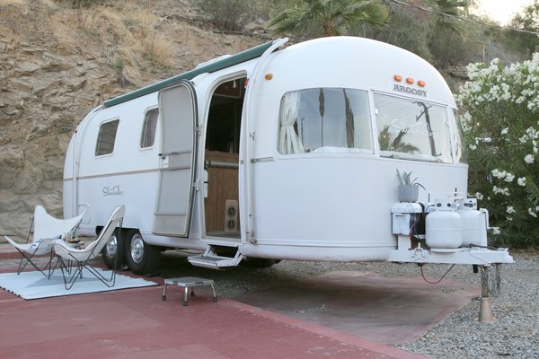 This Argosy model was lovingly restored by Kristiana Spaulding to complete her own personal collection of Airstream models.