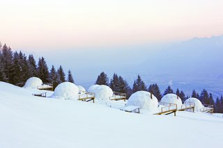 Go Eco-Friendly Glamping in These Geodesic Domes in the Swiss Alps - Photo 2 of 10 - Whitepod lets you live a unique experience on a preserved piece of land in the Swiss Alps.