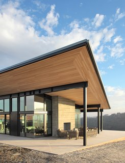 6 Modern Wineries on the West Coast With Beautiful Architecture - Photo 9 of 17 - The design is focused on the unobstructed views of the estate's vineyard, along with a simple process flow for its handcrafted approach to wine making.
