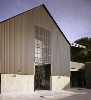 6 Modern Wineries on the West Coast With Beautiful Architecture - Photo 11 of 17 -  Steep roofs and tall internal spaces provide a barn-like simplicity and facilitate an efficient, multi-level design.
