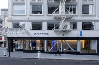 A Healthcare Start-Up Combines Modern Design With Top-Notch Technology and Care - Photo 2 of 11 - Forward's new 3,500-square-foot space sits on the corner of Sutter Street and Kearny Street in San Francisco's Financial District.