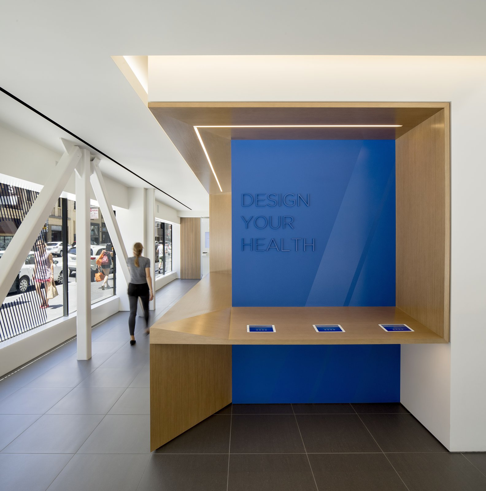 It is not a coincidence that the interiors more closely resemble an Apple store than a traditional doctor's office. Tagged: Office.  Photo 4 of 12 in A Healthcare Start-Up Combines Modern Design With Top-Notch Technology and Care