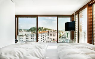 Stay in a Prefab Cube Placed Atop a Midcentury Hotel in Austria - Photo 4 of 8 -