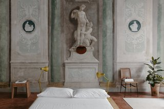 A 16th-Century Florentine Palazzo Is Transformed Into an Artist Residency - Photo 7 of 19 - Room #4 has a strong sense of place with original frescos left intact.