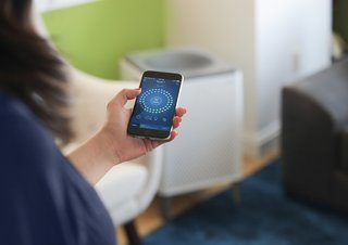 Instantly Make Your Home Healthier With Airmega - Photo 4 of 9 - The Airmega mobile app lets you remotely change settings on Wi-Fi enabled units and monitor the air quality in your home anytime, from anywhere. It also can give you real-time air quality notifications, filter lifetime monitoring and a scheduler.