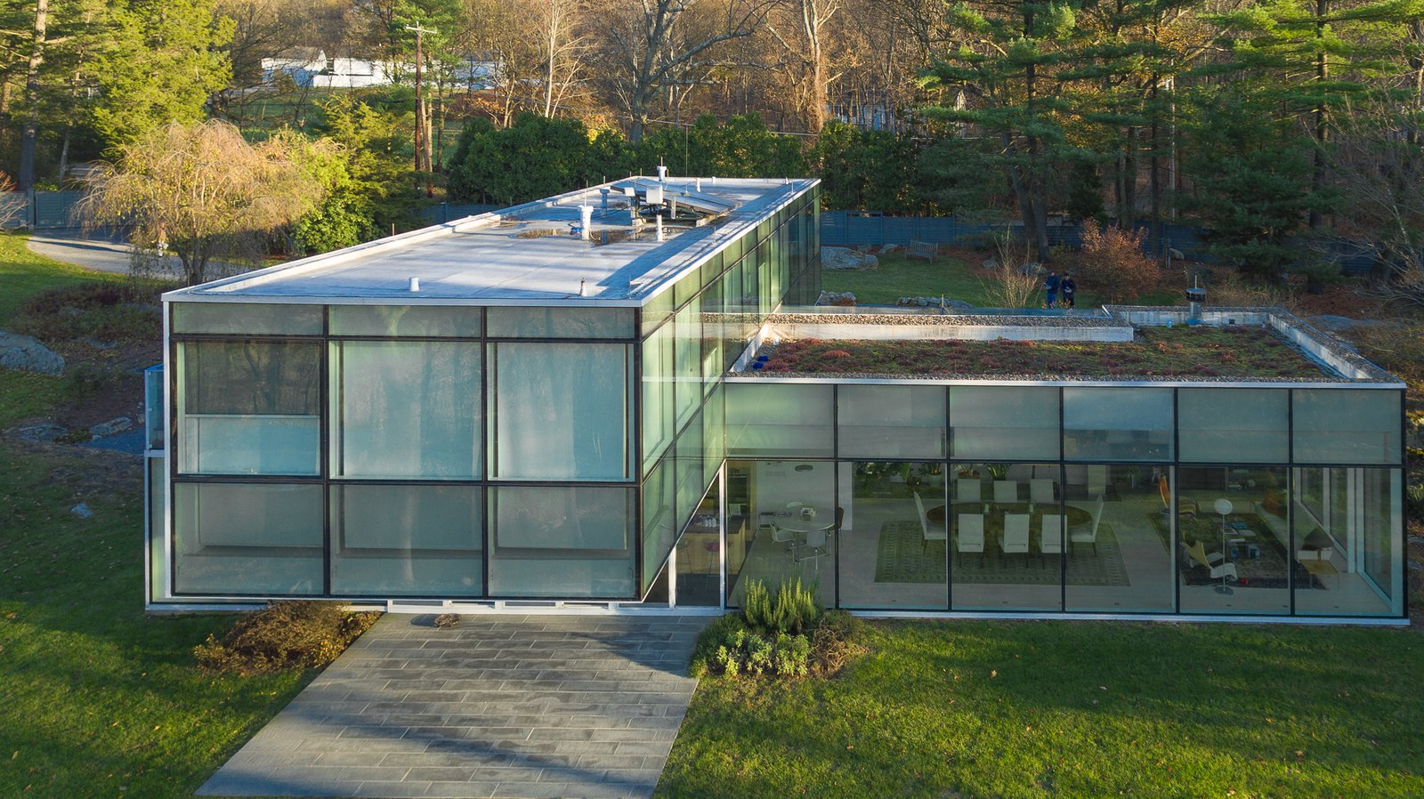 Tagged: Exterior, House, Glass Siding Material, and Flat RoofLine.  Best Photos from A Toshiko Mori-Designed Masterpiece in New York Wants $4.95M