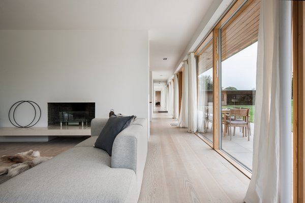 The corridor allows for views that extend the entire length of the home.