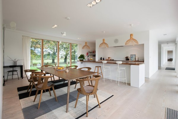 The bright, open, contemporary kitchen.