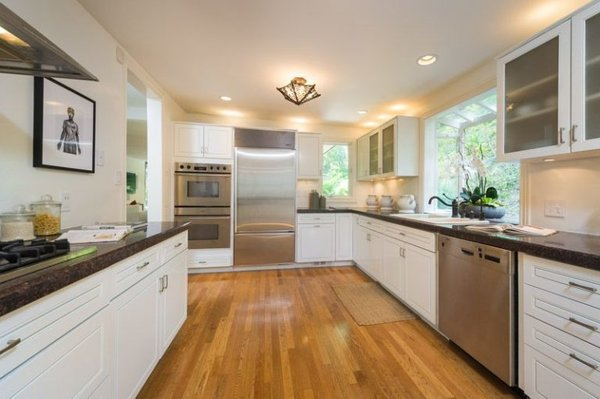 The kitchen is both functional and beautifully designed.