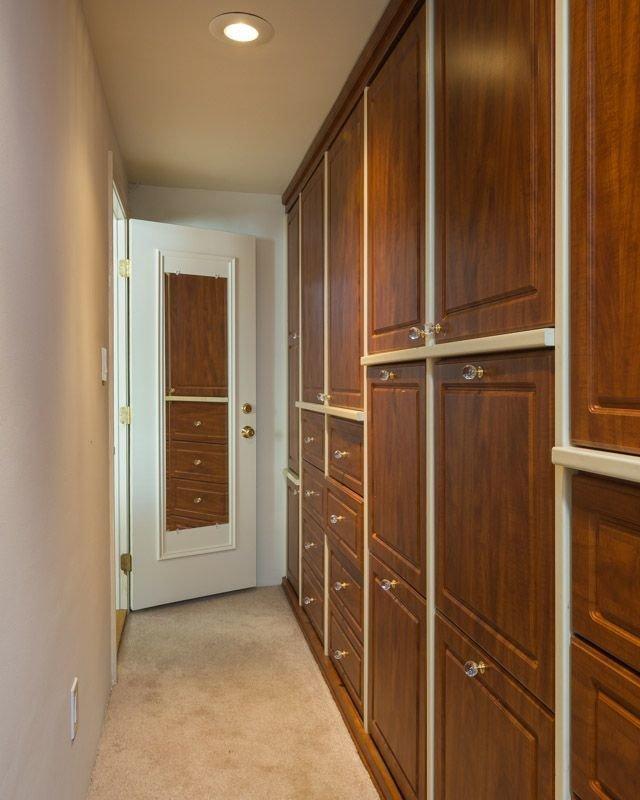 The walk-in closet.