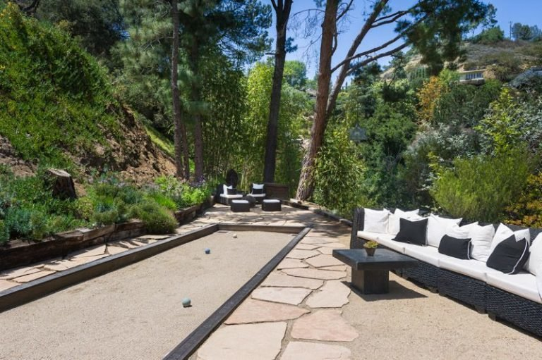 A bocce court is