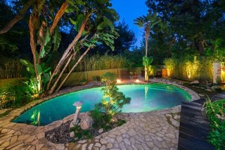 Anna Faris Lists Her Midcentury Abode in the Hollywood Hills For $2.5M - Photo 7 of 16 - The lagoon-like swimming pool