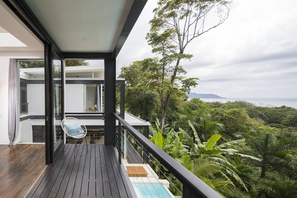 Unparalleled views of the Costa Rican coast can be enjoyed from the bedroom balcony.
