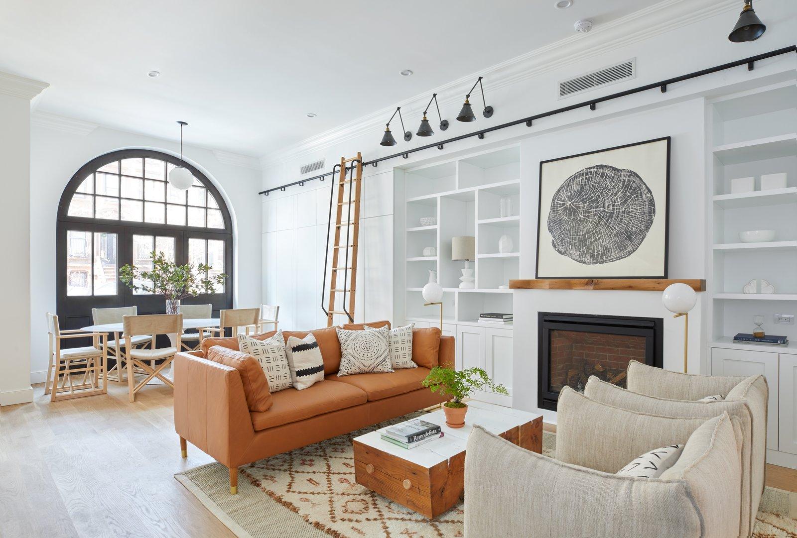 The light-filled, lovely living room of 411 Vanderbilt.