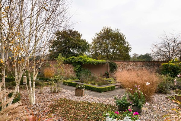 The walled in garden.