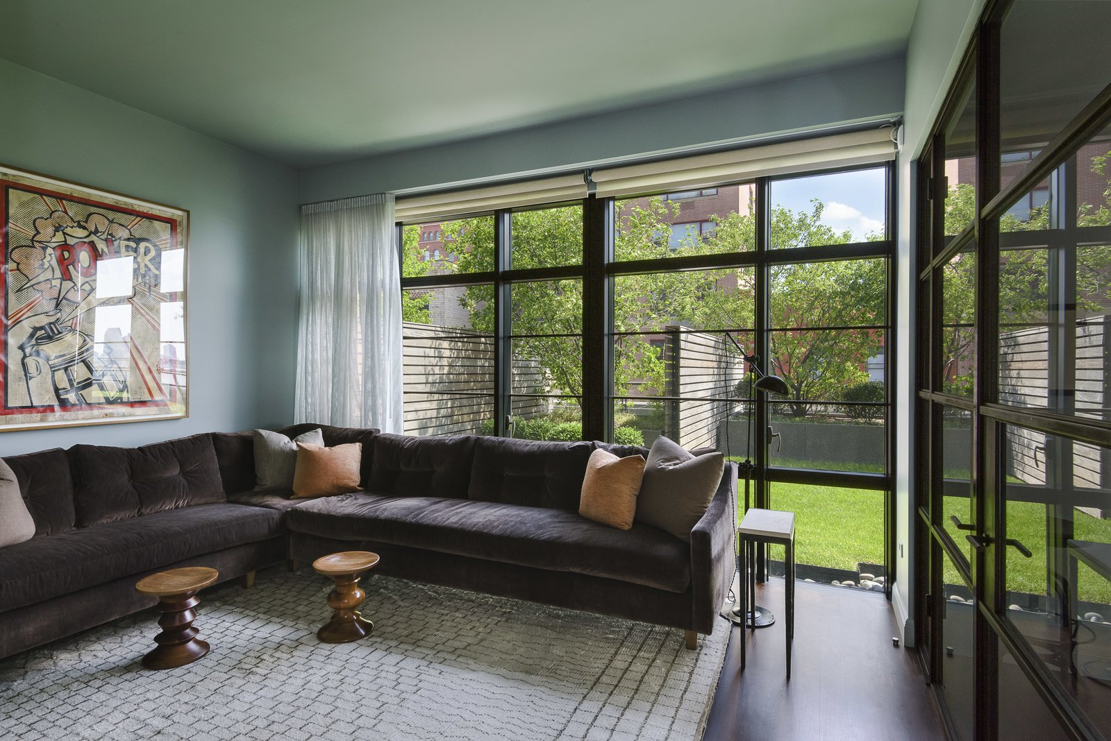 A room that is currently being used as a den could also be easily transformed into a fourth bedroom.