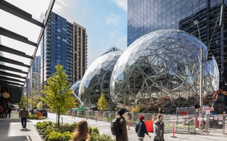 Meet Downtown Seattle's Newest Landmark: The Amazon Spheres - Photo 2 of 8 - Three fabricators across the Pacific Northwest collaborated to create the structure.
