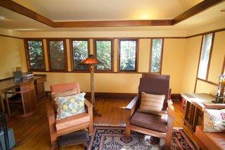 A Rare Lloyd Wright Prairie Home in L.A. Wants $1.35M - Photo 4 of 10 - Original art glass windows