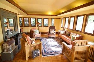 A Rare Lloyd Wright Prairie Home in L.A. Wants $1.35M - Photo 1 of 10 - The home boasts original casement windows.