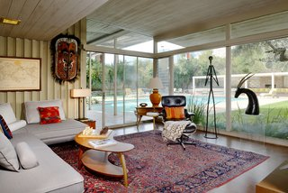 A Luminous Palm Springs Midcentury Asks $3.35M - Photo 4 of 16 - The estate also includes a servants' quarter (or office with bath), a sunroom, and an interior atrium with a pond.
