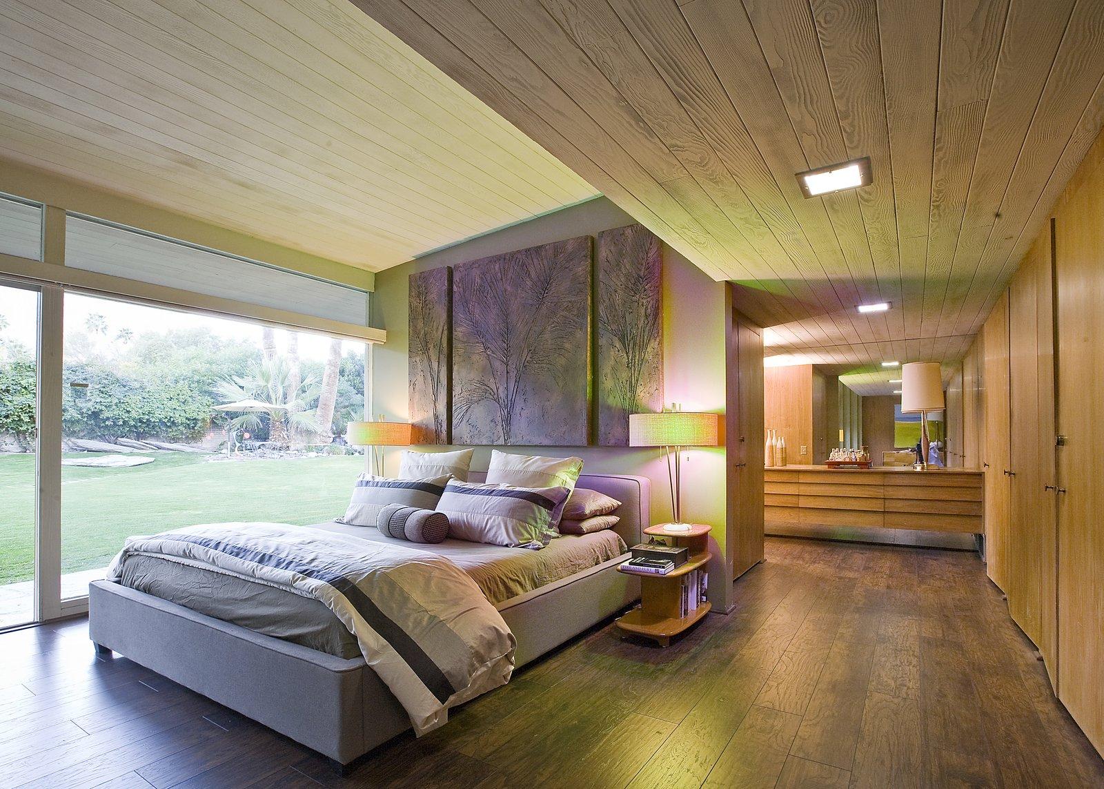 A bedroom with an en-suite bathroom.