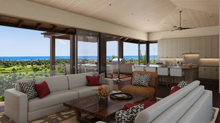 A Breezy Hawaiian Residence by Olson Kundig Hits the Market at $6.95M - Photo 4 of 14 - The open kitchen and living area are perfect for casual entertaining.