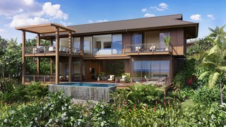 A Breezy Hawaiian Residence by Olson Kundig Hits the Market at $6.95M - Photo 11 of 14 - The gorgeous exterior view of the home and the surrounding tropical garden paradise