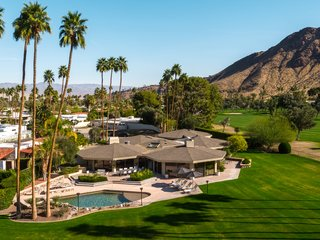 Own William Krisel's Palm Springs Pod House For $2.5M - Photo 1 of 18 - An aerial view of the Pod House