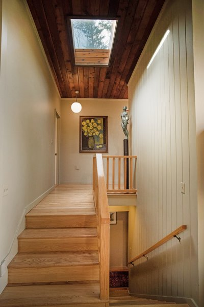 A skylight in the hallway.